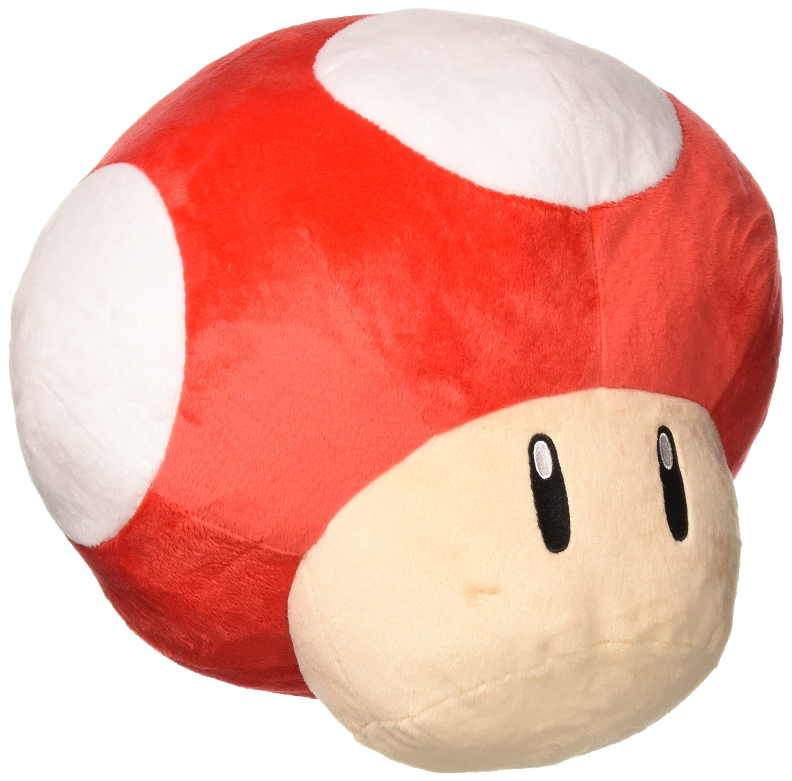 Little Buddy USA Super Mario Series 11'' Large Super Mushroom Pillow Plush