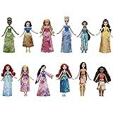 Disney Princess Royal Collection, 12 Fashion Dolls -- Ariel, Aurora, Belle, Cinderella, Jasmine, Merida, Moana, Mulan, Pocahontas, Rapunzel, Snow White, Tiana, Toy for 3 Year Olds & Up