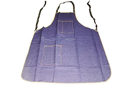 Amazon Com Denim Apron 25 X 34 2 Pockets Garage Shop