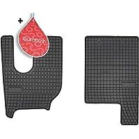 Frogum Alfombrillas Negro Coches de Goma 2-Pieza compatibile con Renault T de 2013