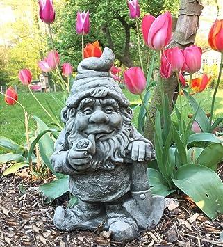 garden figures. Antikas \u2013 Funny Gnome Pipe Smoking Garden Figures Gnomes D