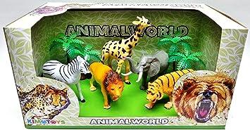 Aet Caja Animales Selva 7 Pcs: Amazon.es: Juguetes y juegos