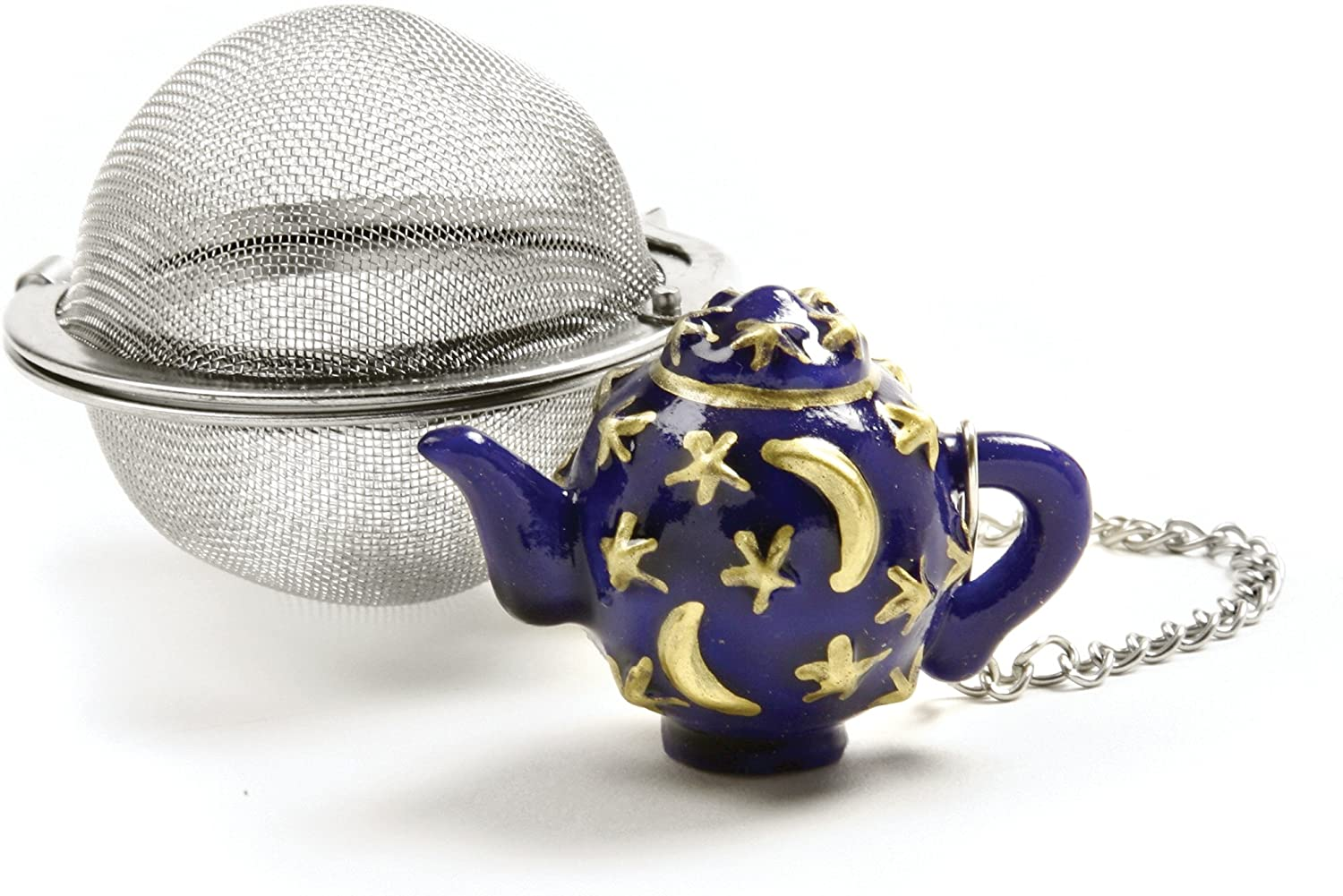 3D stainless steel figure to drink tea with Nicholas tea bag holder gift