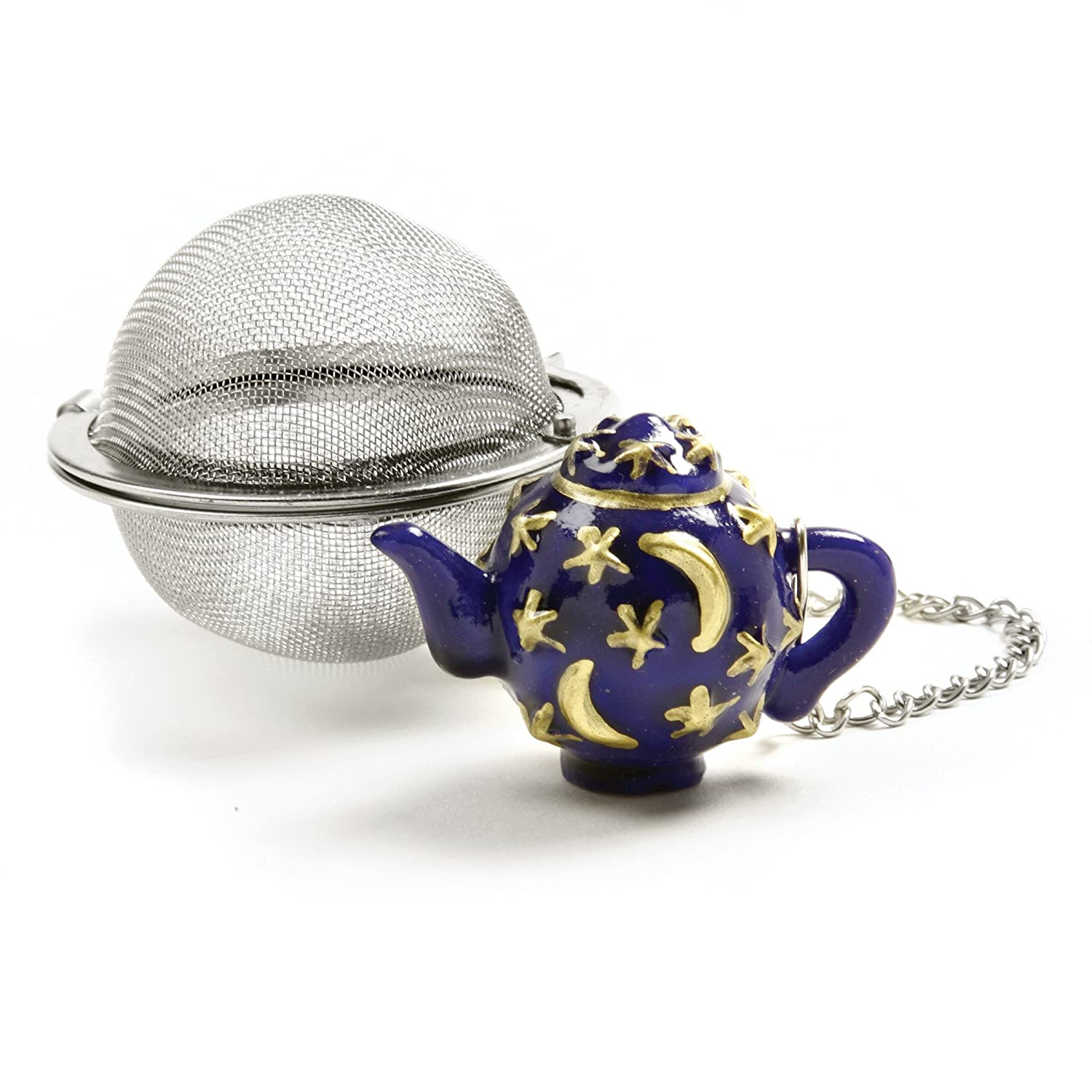 Norpro Stainless Steel 2-Inch Mesh Tea Infuser Ball with Teapot Weight 5509