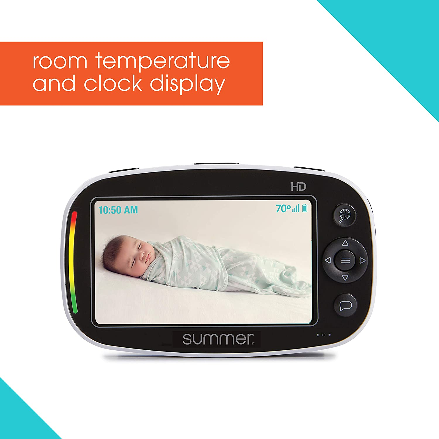 "Summer Baby Pixel Zoom HD Duo 5.0"" Video Baby Monitor (2 Cameras) – High Definition Baby Monitor with Clearer, Nighttime Views, SleepZone Boundary Alerts and Remote Camera Steering : Baby"