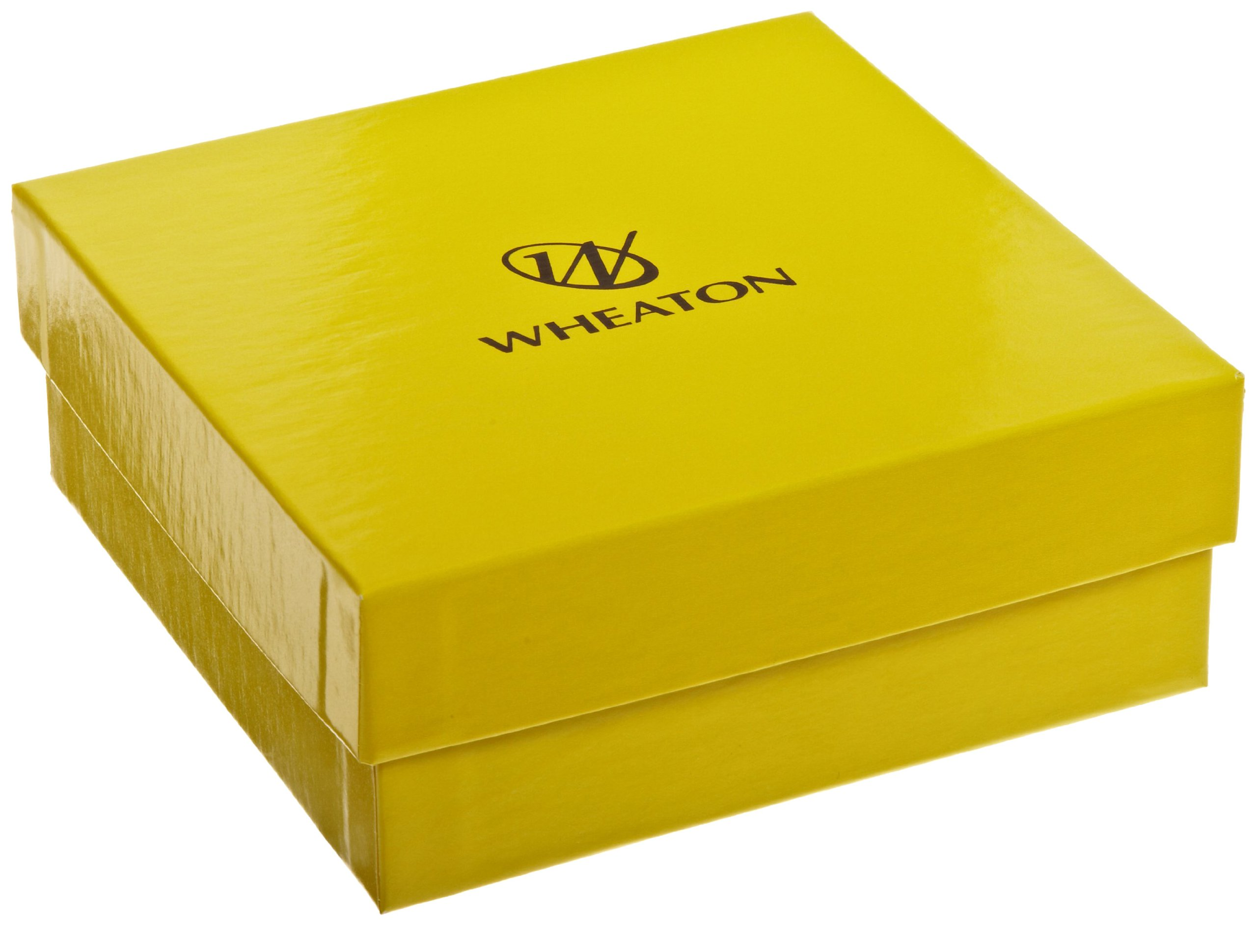 Wheaton W651601 Yellow Chipboard CryoFile Storage Box, 130mm Length x 130mm Width x 52mm Height, For 2mL Cryogenic Vials (Case of 15)