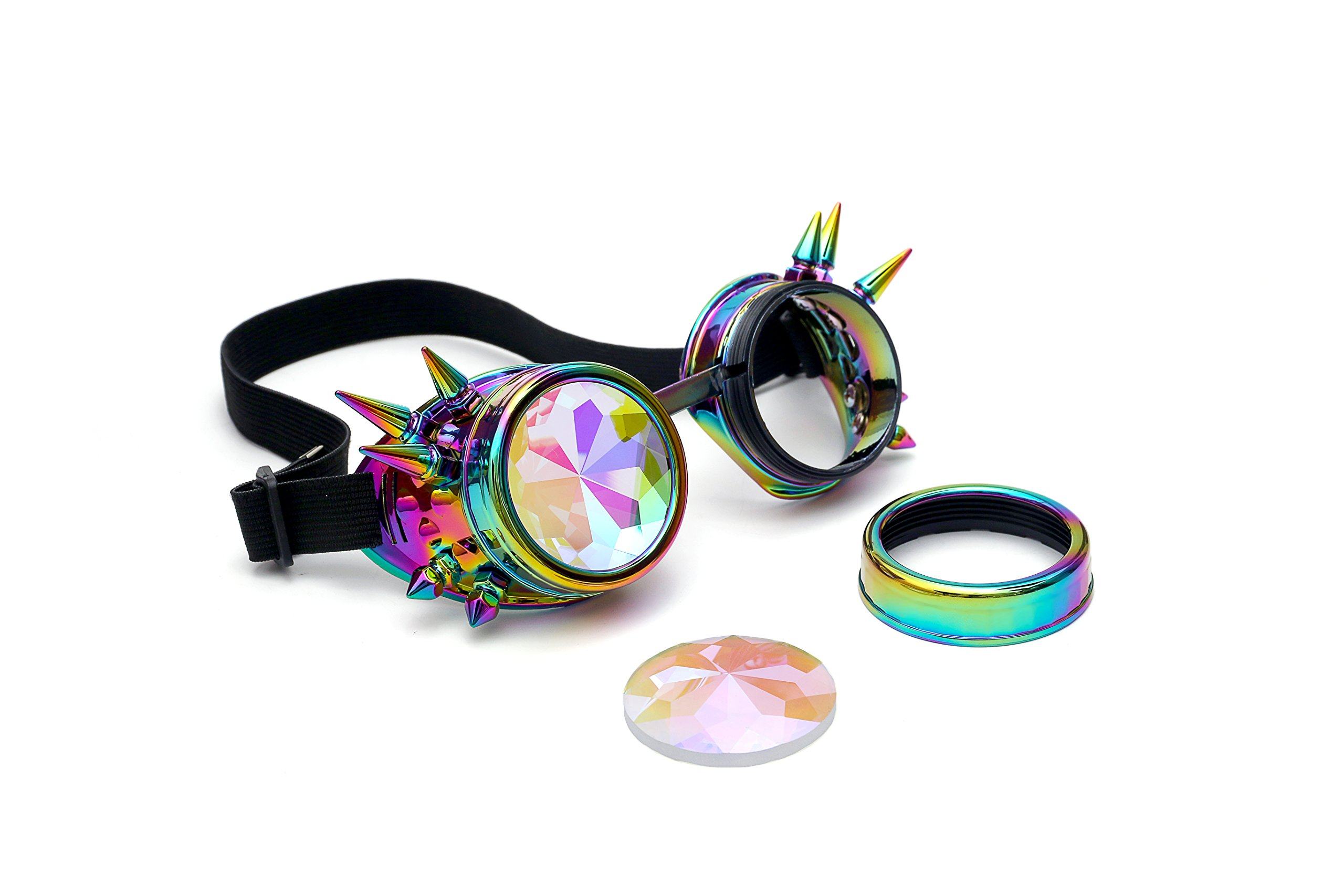 FIRSTLIKE Festivals Kaleidoscope Rainbow Glasses Prism Sunglasses Goggles by FIRSTLIKE (Image #2)
