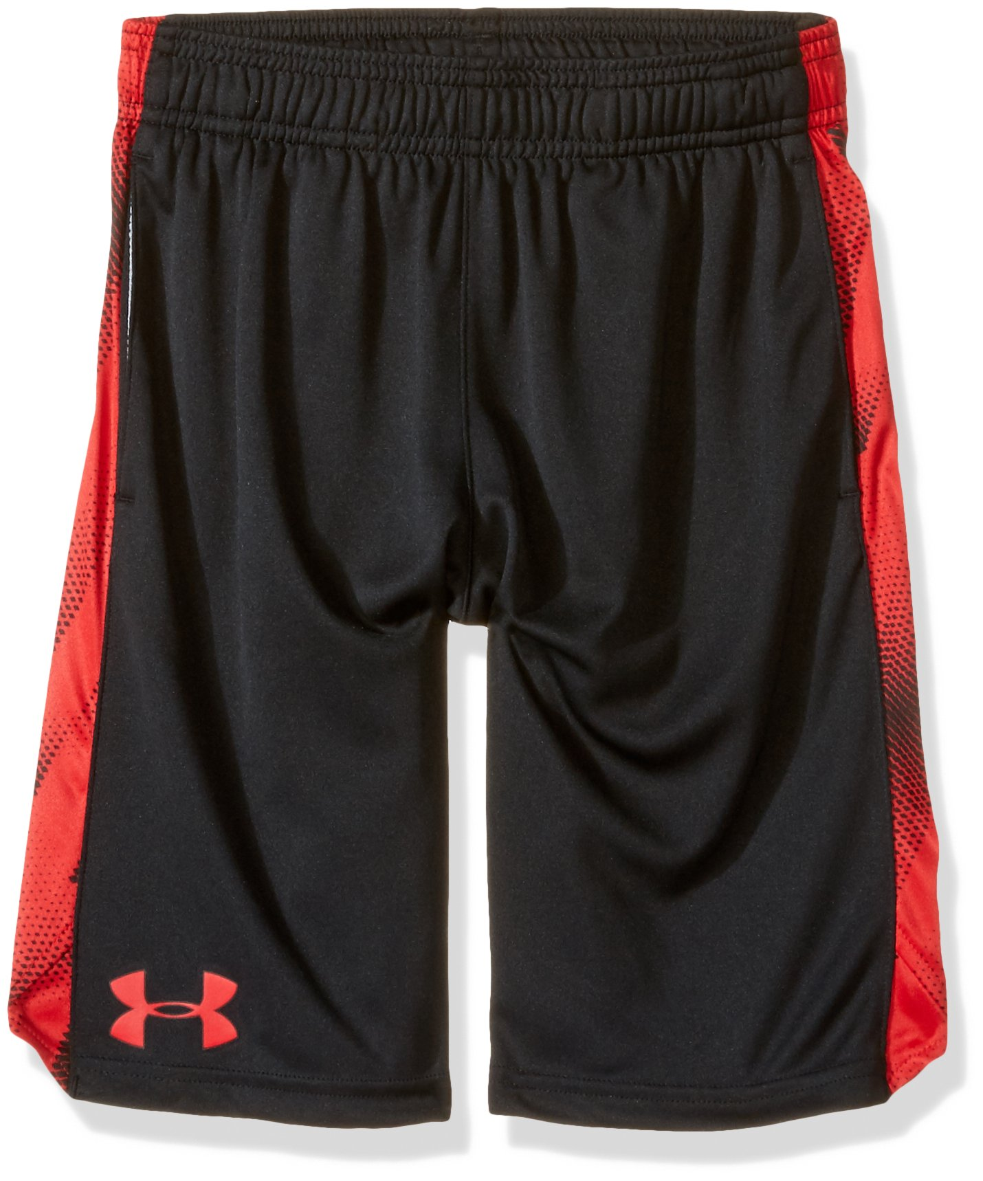 Under Armour Boys' Eliminator Printed Shorts, Black (004)/Red, Youth X-Large by Under Armour