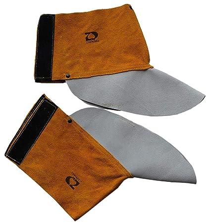 ZaoProteks ZP3002 - Protectores de piel de vaca para botas de soldadura resistentes al calor y a
