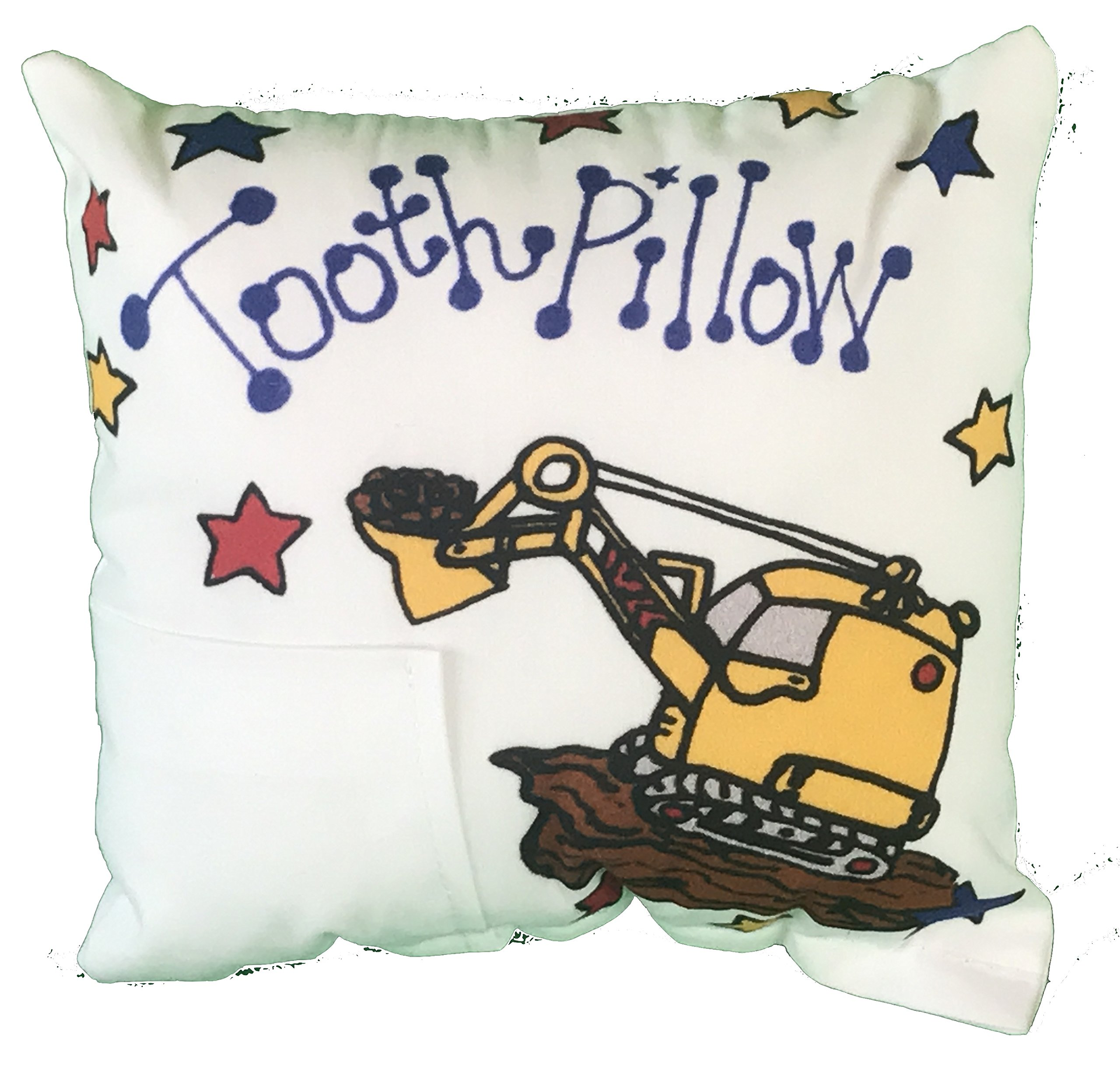 Truck Tooth Fairy Pillow with Tooth Fairy Dust by Bunnies and Bows