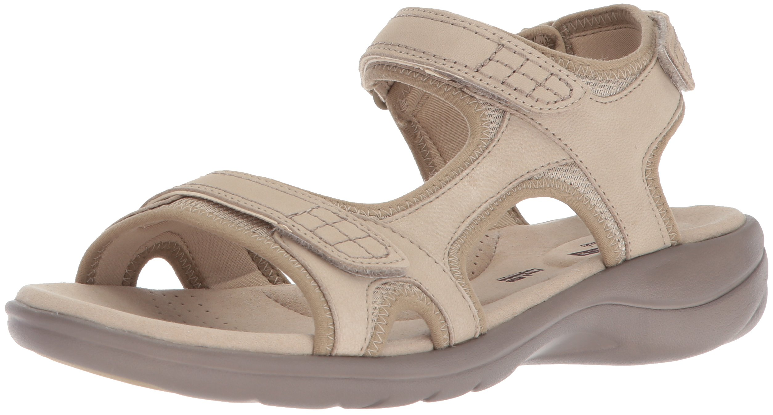 CLARKS Women's Saylie Jade Sandal, Sand, 8.5 Medium US