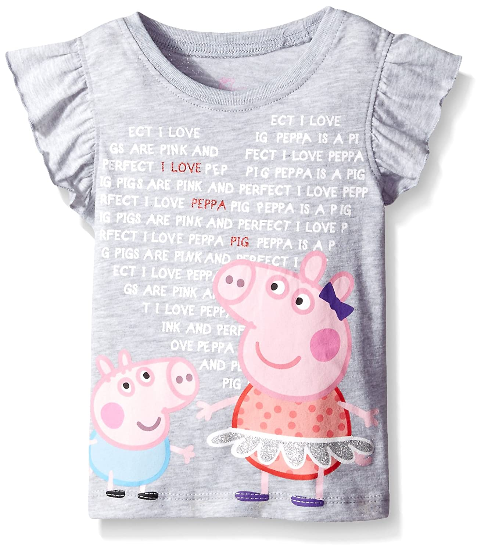 Peppa Pig Girls Clothing Set Gray