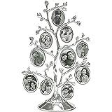 MIMOSA MOMENTTS Árbol familiar de metal con 10 marcos de fotos colgantes, collage de computadora
