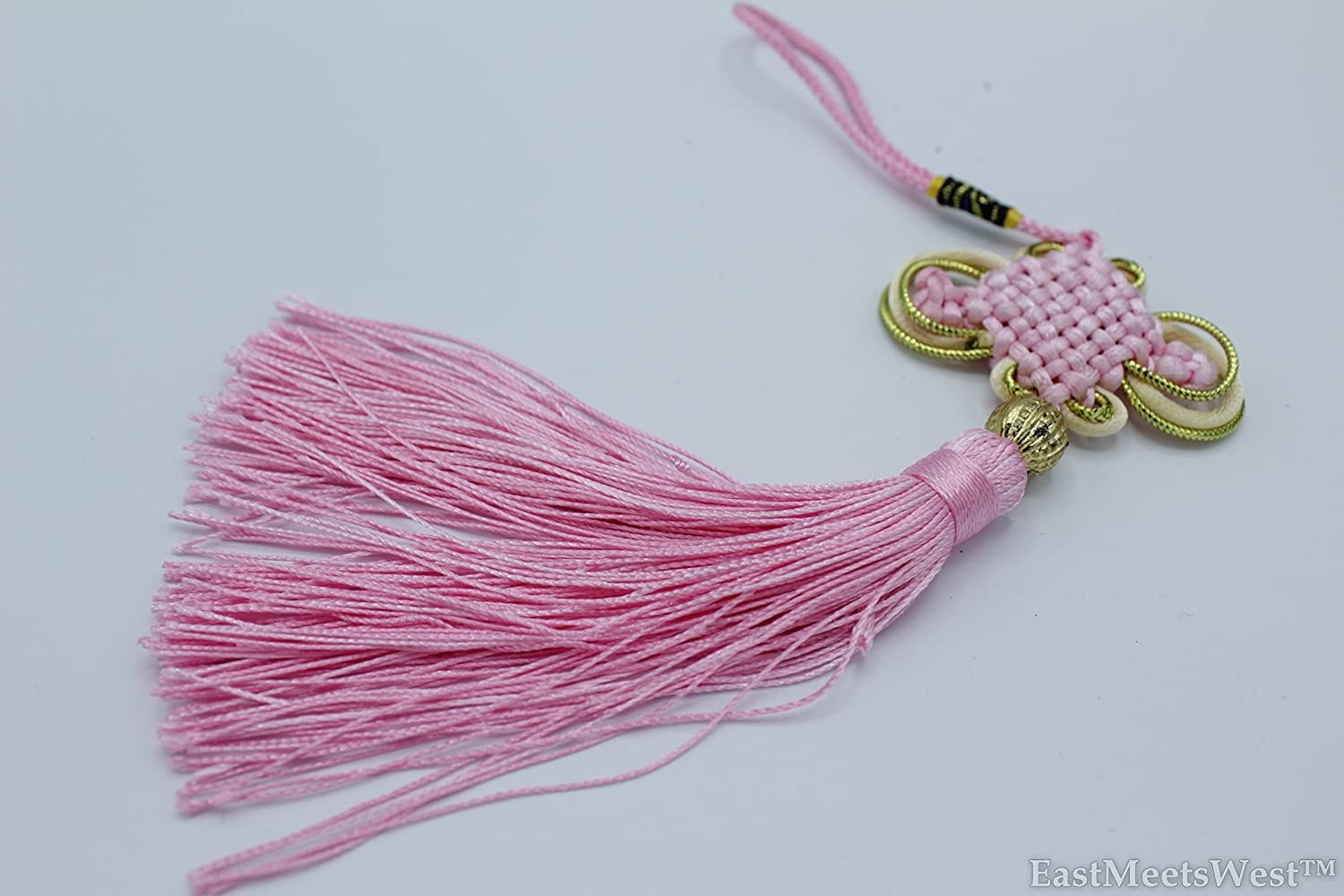 Oriental Chinese Hand Made Mystic Knots Tassels Hanging Charm Feng Shui Protection Protection (Black) Beijing