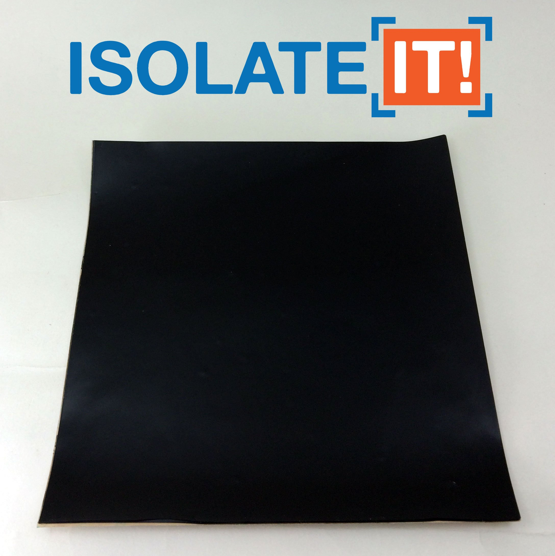 Isolate It!: Sorbothane Acoustic and Vibration Thin Film Square (0.080 x 6 x 6'') with 3M Adhesive 60 Duro - 1 Sheet by Isolate It!
