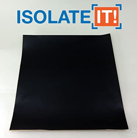 Isolate It! Sorbothane Acoustic /& Vibration Damping Film 40 Duro with 3M Adhesive Backing 0.188 x 6 x 12in