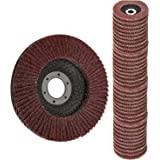 Flap Discs 40 PCS 4.5 Inch - 40 60 80 120 Grit Grinding Discs 4 1/2 Assorted Sanding Grinding Wheels,Aluminum Oxide…