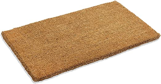 Natural Coco Coir Doormats for Outside with Heavy Duty Weather Resistant