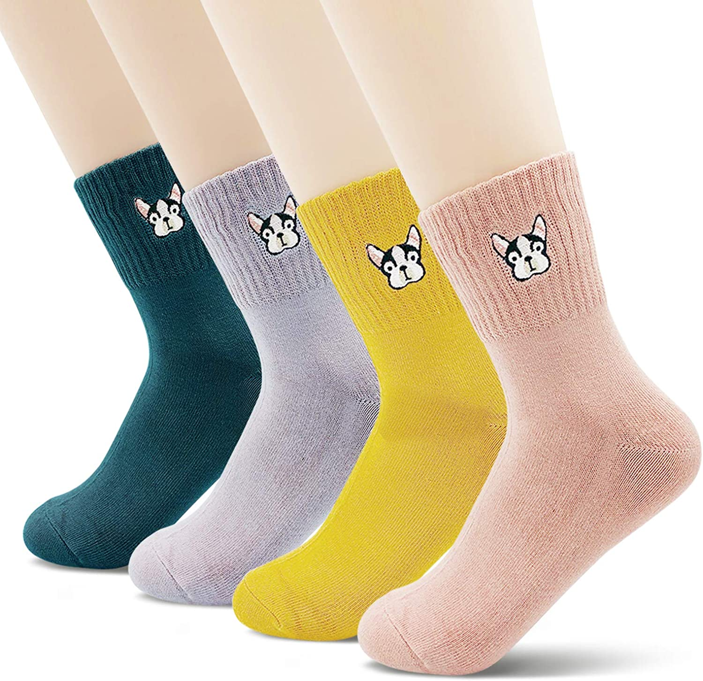 Cute Cotton Funny Design Novelty Spring Summer Heart Crew Ankle Socks for Women