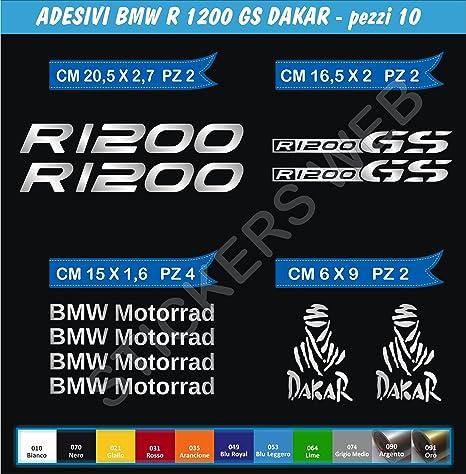 Sticker Adesivo Valigia Compatibile con BMW R 1200 1150 1100 800 GS Adventure Mappa Rilievo 16 Colori Disponibili Kit 2 Pezzi