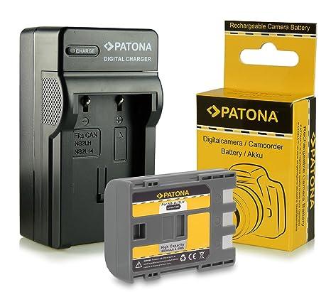 PATONA 3en1 Cargador + Batería NB-2L / BP-2L5 para Canon PowerShot S30 S40 S70 S80 G7 G9 EOS 350D 400D MV830 MV850i Legria HF R16 R18 R106 y mucho más