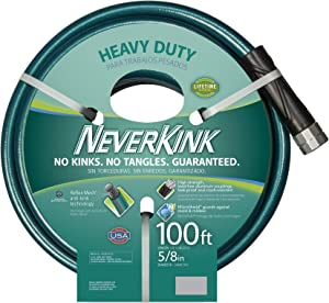 Teknor Apex 1094716 NeverKink 8615-100, Heavy Duty Garden Hose, 5/8-Inch by 100-Feet