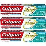 Colgate Total Toothpaste, Fresh Mint Stripe Gel, 4.8 oz (Pack of 3)