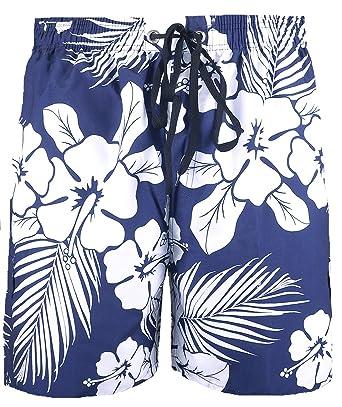 81d5a8bebc Big Mens Navy Brooklyn Begonia Floral Swim Shorts 2XL 3XL 4XL 5XL 6XL:  Amazon.co.uk: Clothing