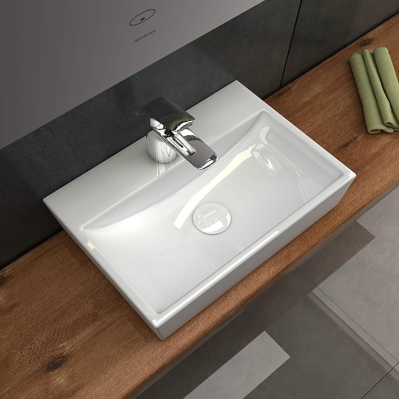 Hnge- oder Aufsatzwaschbecken Elegantes Design Alpenberger ...