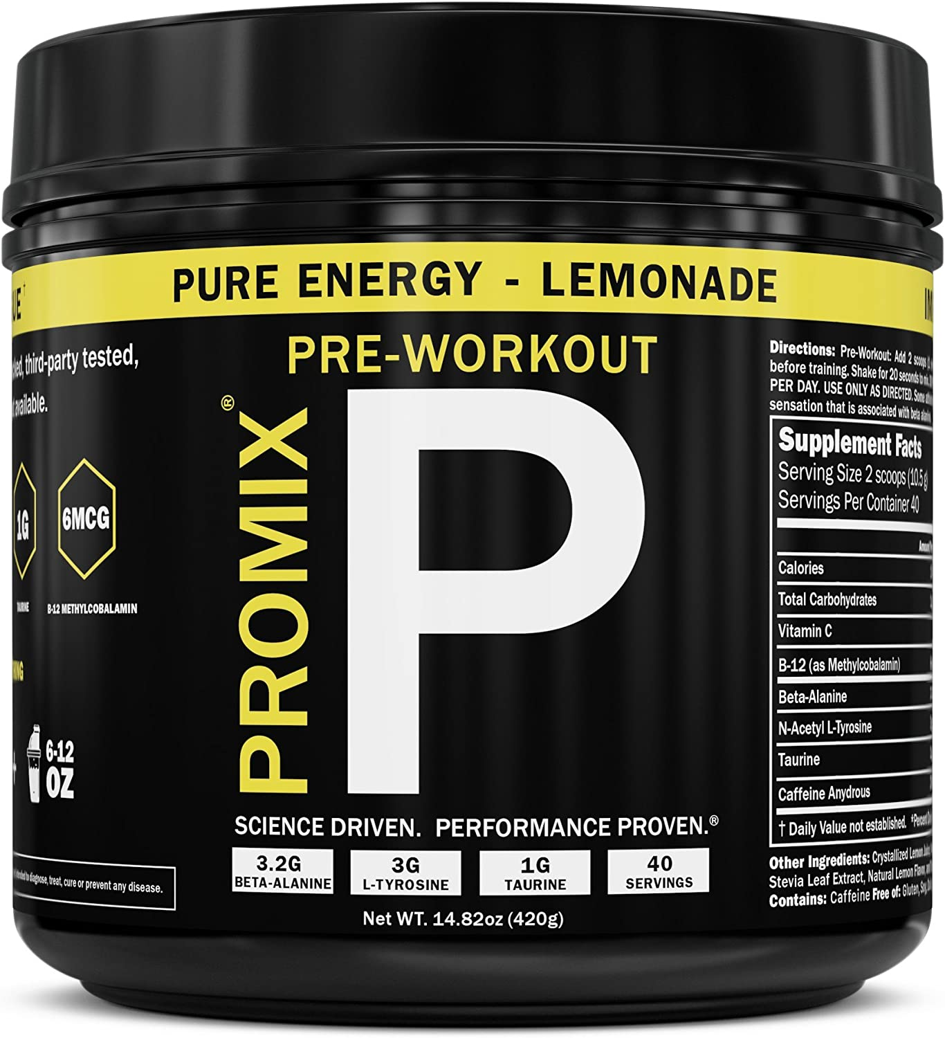 ProMix Nutrition Pre-Workout, Lemonade