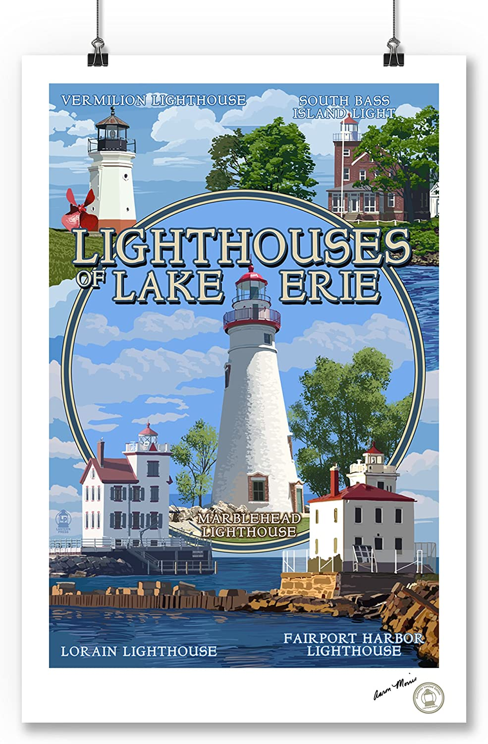 Stone Harbor 24x36 Giclee Gallery Print, Wall Decor Travel Poster Water Tower New Jersey