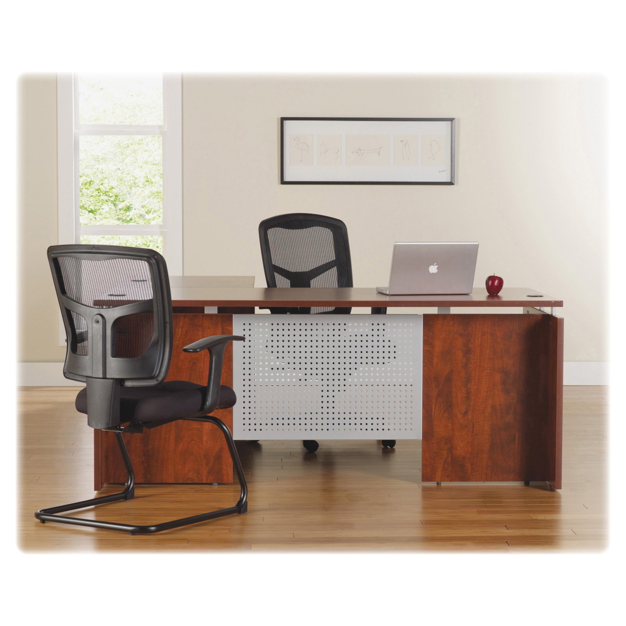 Lorell LLR68705 Executive Desk, Cherry by Lorell (Image #4)