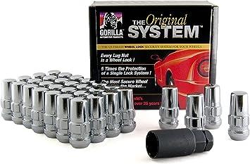 """Set of 32 Chrome Duplex Locking Lug Nuts 9//16/"""" Thread Ford Econoline 8 Lug Truck"""