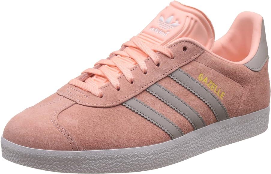 Puntualidad Casarse Red de comunicacion  adidas Women's Gazelle Running Shoes, Pink (Haze Coral/Clear Granite/FTWR  White), 9 UK 43 1/3 EU: Amazon.co.uk: Shoes & Bags