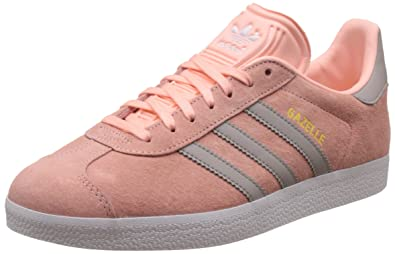 100% authentic 9fe18 7bb51 adidas Women s Gazelle Running Shoes, Pink (Haze Coral Clear Granite FTWR  White