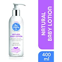 The Moms Co. Natural Baby Lotion with USDA-Certified Organic Apricot, Organic Jojoba and Organic Rice Bran Oils (400 ml)