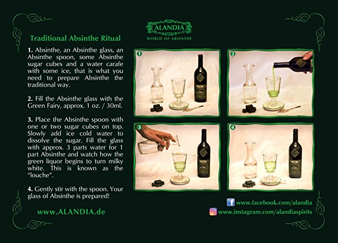 Fuente de Absenta Clásica - Ideal para prepara Absenta / Absinthe de la manera clásica!: Amazon.es: Hogar