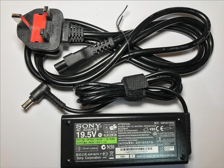 Cargador original AC ADAPTOR 90W SONY VAIO VGP-AC19V31: Amazon.es: Electrónica