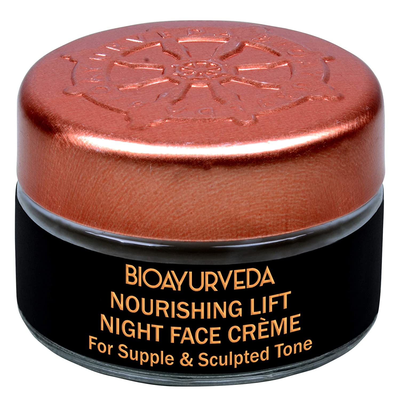 BIOAYURVEDA Nourishing Lift Night Face Care Cream  Organic Night Cream Skin Care Tone Moisturizer for Face  For Dark Circles, Acne, Wrinkles, Pigmentation, Dry Facial Area(0.7 Oz)