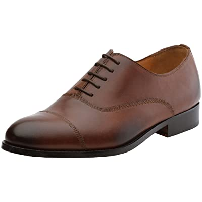 Amazon.com | 3DM Lifestyle Men's ClassicToe Cap Oxford Lace Up Leather Lined Dress Oxfords Shoes | Oxfords