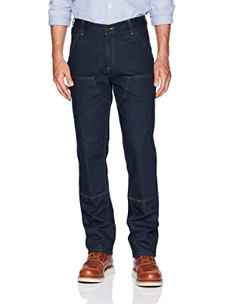 48c2d9a9 Carhartt Men's Rugged Flex Relaxed Double Front Jean at Amazon Men's  Clothing store: