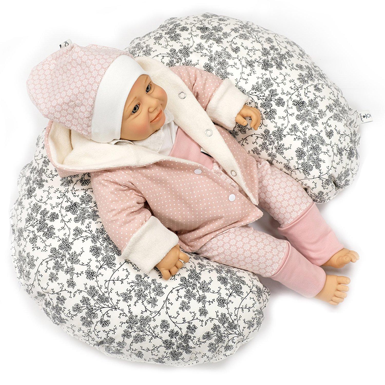 Sharlene Mini- Mini- Mini- Stillkissen aus Baumwolle mit Bezug - Schadstoffgeprüftes Lagerungskissen - Mikro-Perlen Baby Kissen - Seitenschläferkissen (120 cm, Dunkelblau) 00e285