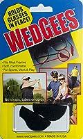 Wedgees Eyeglass Retainers and Eyewear Holders (Black Sport)