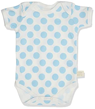 1c2b4c4dac439 Little Shrimp Newborn Baby Boys Blue Spot Short Sleeve Body Suit in Boy  Tin  Amazon.co.uk  Baby