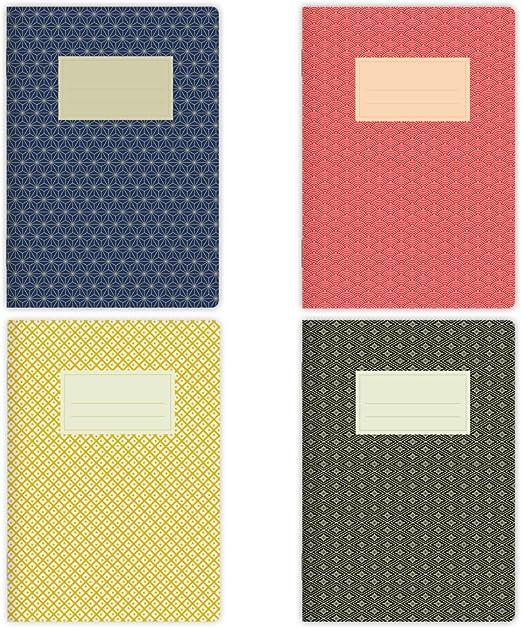 32 fogli bianchi Set di 4 quaderni per appunti formato A5 motivo Marocco n etmamu 721 2