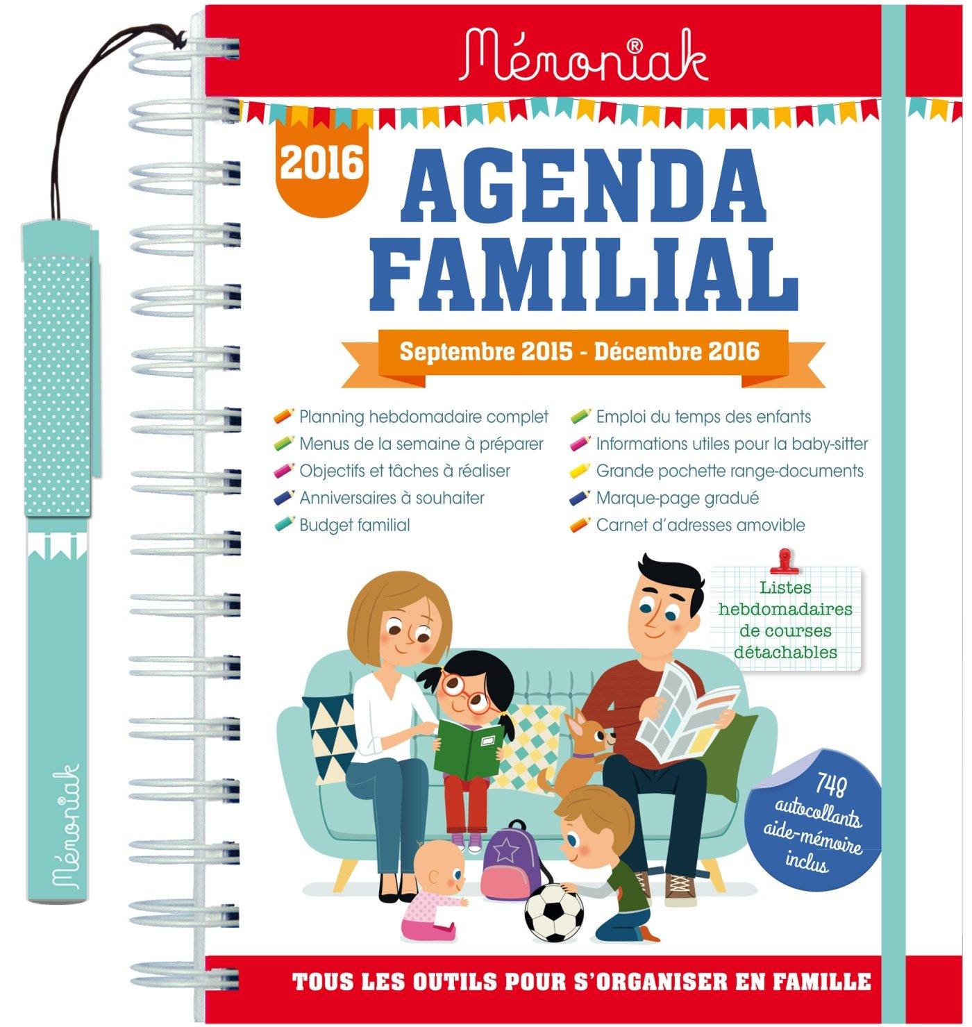 Agenda familial Memoniak 2015-2016: 9782351556498: Amazon ...