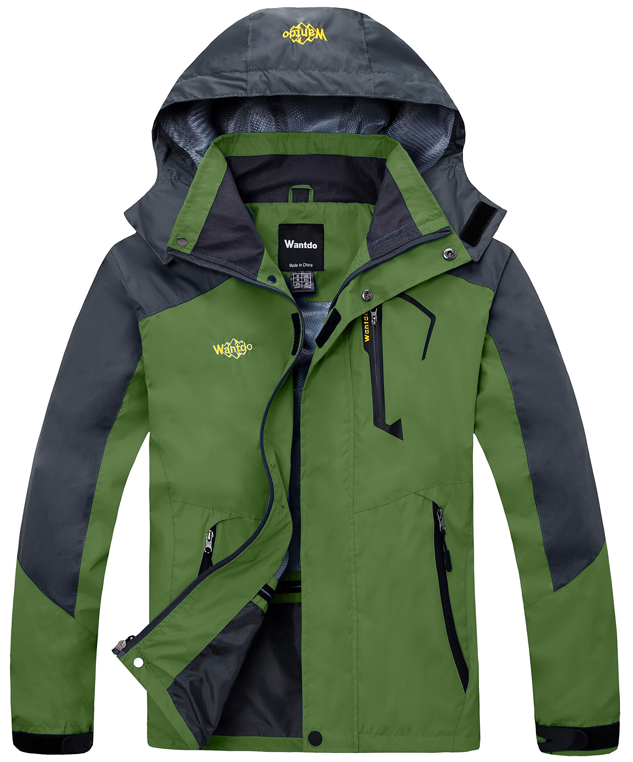 Wantdo Men's Hunting Jacket Clothing for Running with Hidden Pockets Grass Green US L