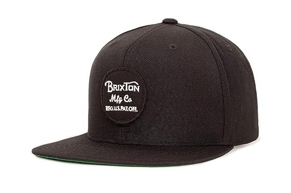 c5baa75d3aa Brixton Wheeler Snapback Cap Black Black Size One Size