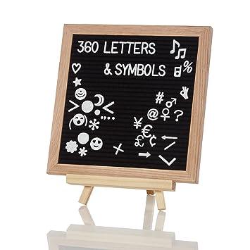 Lumaland Tablero de letras intercambiables Retro con emoticones 25x25 cm: Amazon.es: Hogar