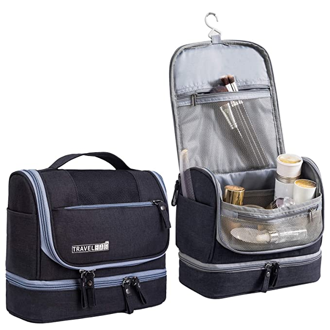 ab8979aee530 Amazon.com  Hanging Travel Toiletry Bag for Men and Women - Multifuncation  Waterproof Cosmetic Bag or Organizer Bag Portable Makeup Pouch by HOKEMP -  Black  ...